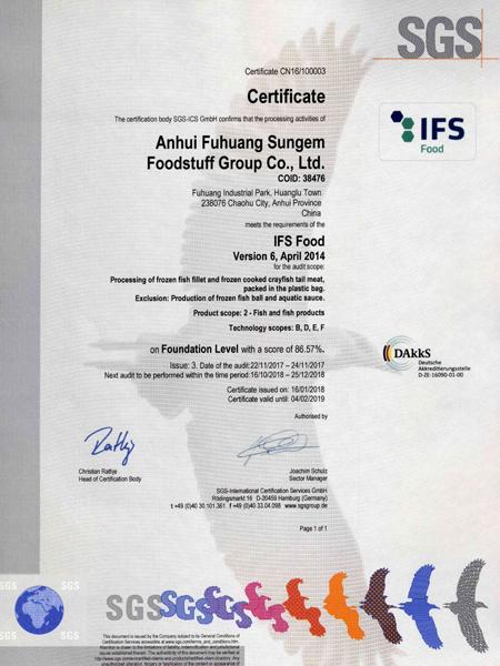 IFS证书(英文版)