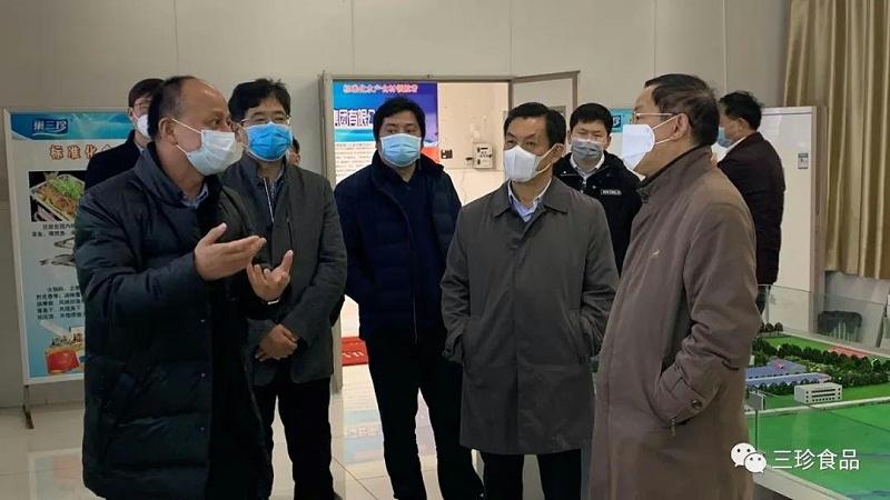 省农业农村厅副厅长杨增权莅临富煌三珍调研复产工作