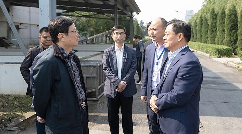 合肥市副市长朱策一行莅临富煌三珍科技特派员工作站调研