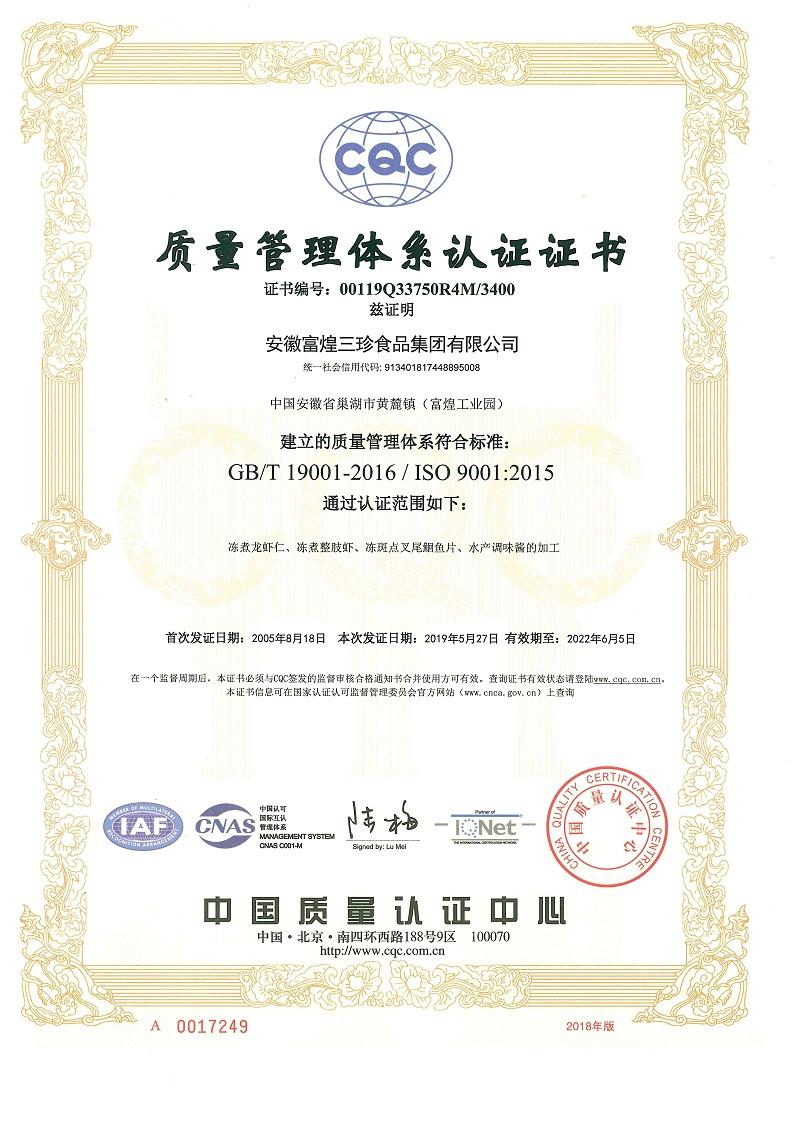 质量管理体系(2019中文)