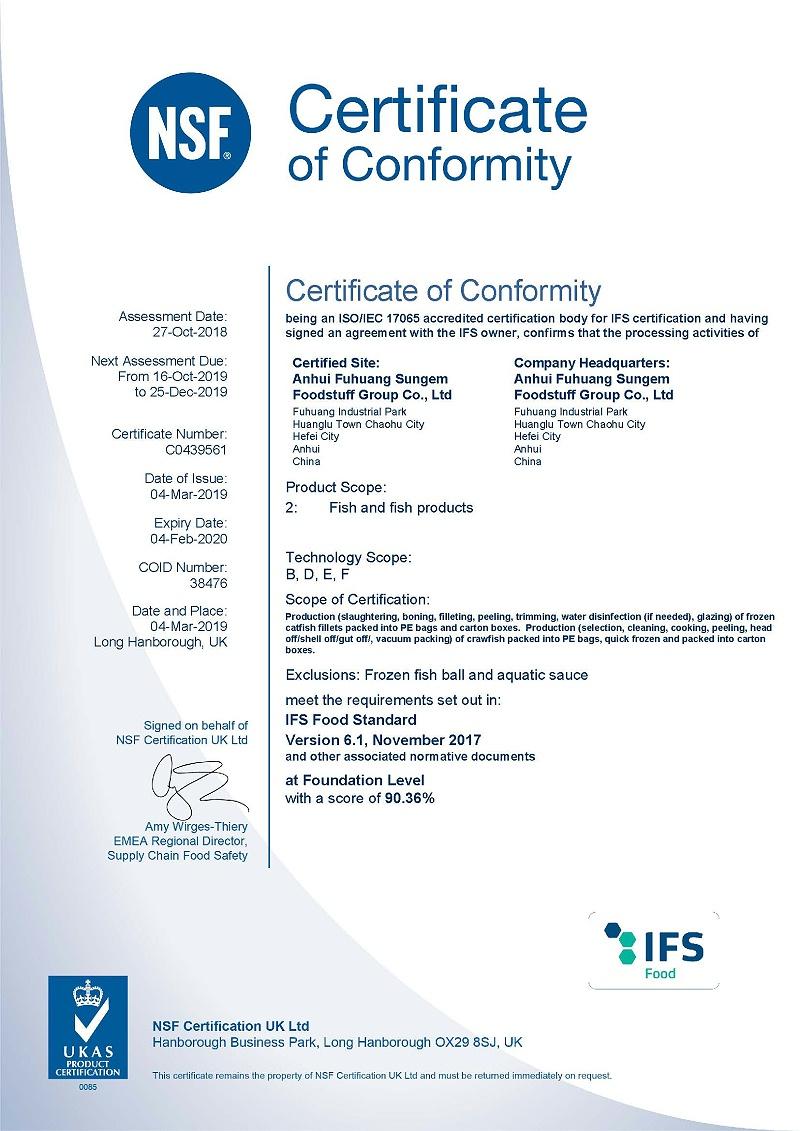 IFS CERT.-2019